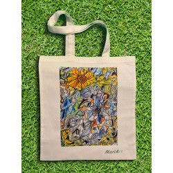 Flora Tote Bag, White