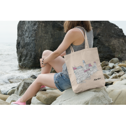 Tote bag Fairytale town